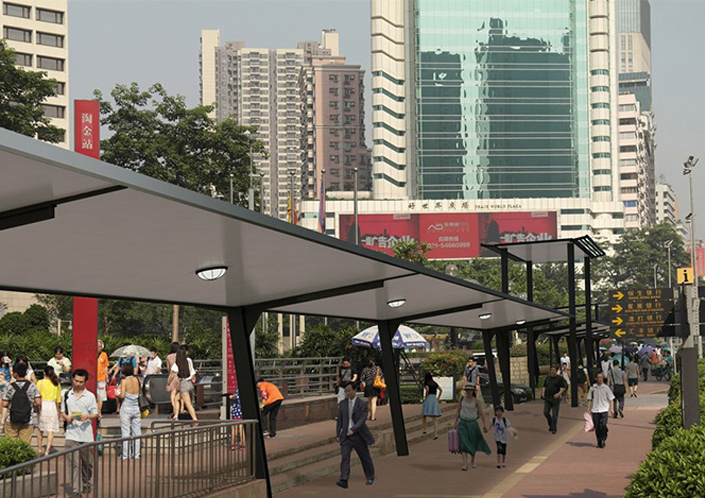 Itdp China Itdp S Proposals For Shaded Walkways Presented On